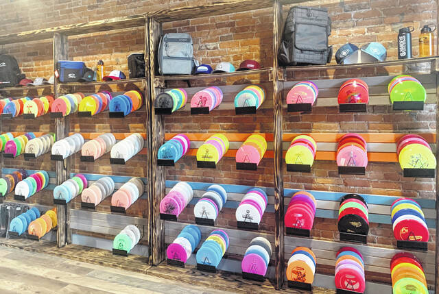 Slick Willy's Disc Golf in Ashley offers a wide variety of disc golf discs.