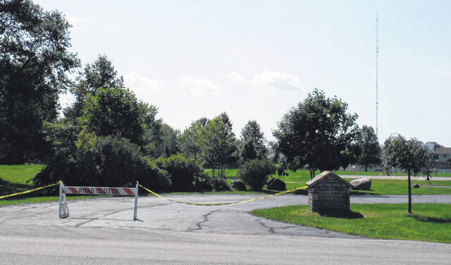 Freeman Road Park in Genoa Township was closed Tuesday to treat for armyworms.