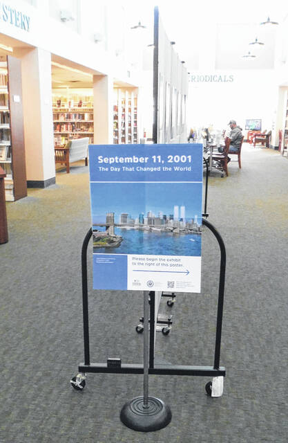 A poster exhibit on the 9/11 attacks is on view at the Community Library in Sunbury.