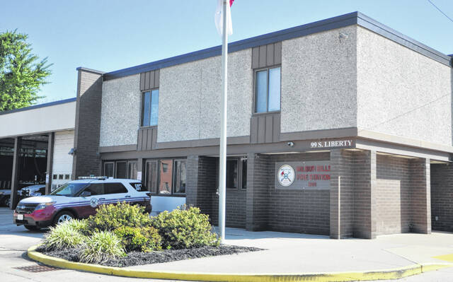 The Delaware Fire Department operates out of four fire stations. Wilbur Bills Fire Station (Station 301), pictured, was constructed in 1972 at 99 S. Liberty St.