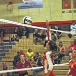 NT volleyball splits pair of conference games
