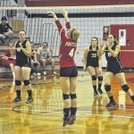 Tri-County North volleyball lost to Arcanum, Mississinawa Valley, Twin Valley South
