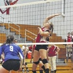 Twin Valley South volleyball splits a pair of Cross County Conference games
