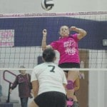 Eaton celebrates 1990 state team, Volley for the Cure with 10th straight win