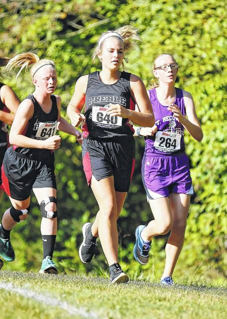 Preble Shawnee's Alivia Reek was 48th in the Division III race at the 47th Annual Eaton Cross County Invitational on Saturday, Sept. 16 at Eaton's Fort St. Clair Park.