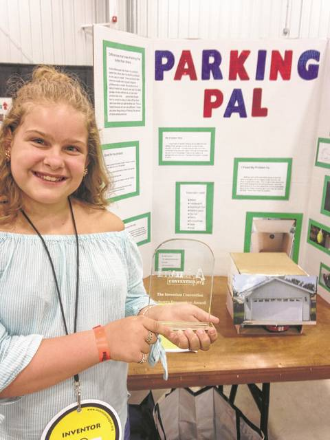 Twin Valley South Elementary Student Jillian Overmyer will be moving onto the National Invention Convention competition, after placing in the State competition and winning a scholarship.
