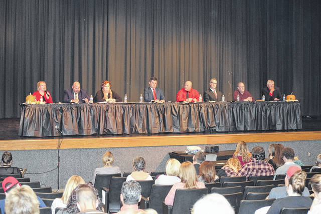 """The Preble Shawnee PTO invited the public to attend a """"Meet the Candidates Night"""" on Thursday, Oct. 19 for those running for the three open PS Board of Education seats. All eight candidates attended and answered six questions on their stance on policies and the highly debated levy issue."""