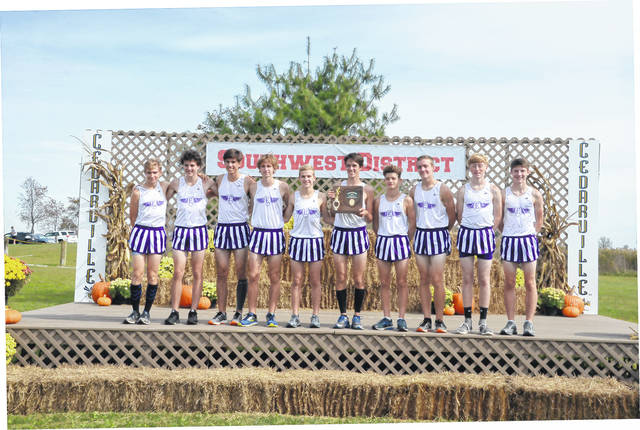 Eaton's boys' cross country team won its first district championship since 2004 on Saturday, Oct. 21, at the Division II District Cross Country meet at Cedarville.