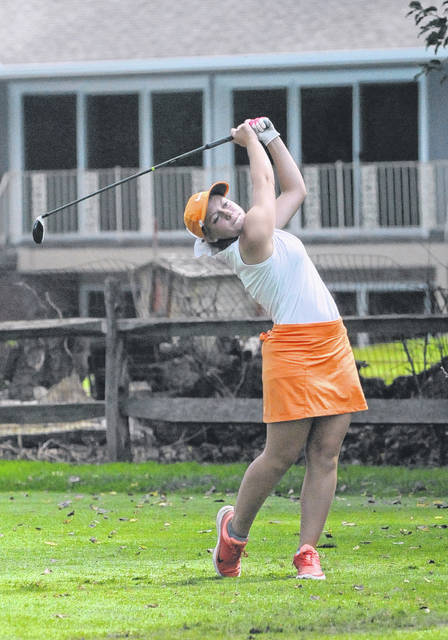 Eddie Mowen Jr. | For The Register-Herald National Trail sophomore Makenna Jones placed 22nd at the 10th Annual Girls Division II State Golf Tournament and 25th overall girls tournament, shooting a two-day total of 166, at The Ohio State University Gray Golf Course on Friday and Saturday, Oct. 13-14.