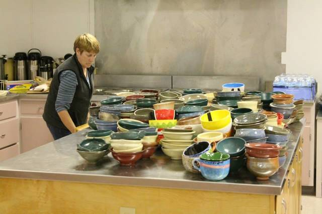 At the luncheon, guests choose from among a collection of bowls created, decorated and donated by Miami University and Talawanda students and Oxford-area potters. Their bowls are then filled with their choice of soups made by local cooks. Luncheon guests then keep their bowls to use or display at home and to serve as a reminder that there are always empty bowls in the world. Homemade bread and desserts, and beverages donated by area businesses will also be served.