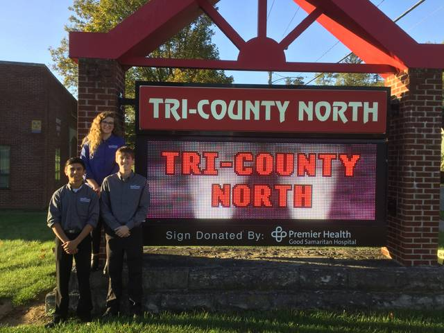 The Miami Valley Career Technology Center (MVCTC) Student Ambassadors spoke to Tri-County North sophomores on Tuesday, Oct. 17. Speakers included Fletcher Durham – Architectural Design (Eaton), Ariel Richardson – Biotechnology (Eaton), and Zantiago Velasco – Culinary Arts (Tri-County North).