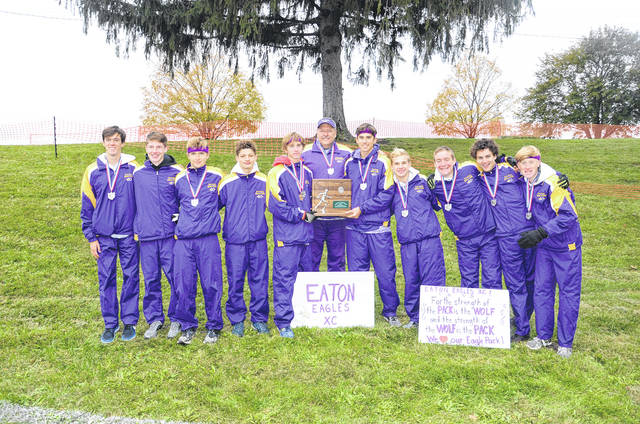 Eaton's boys cross country team finished as the Division II regional runner-up on Saturday, Oct. 28, at Troy. The Eagles will advance to the state meet next Saturday.