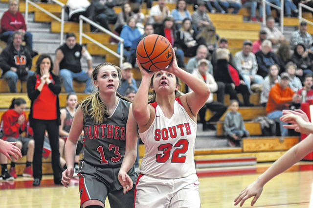 Twin Valley South senior Kelsie Shefer helped her team to a 52-45 win over rival Tri-County North on Saturday. With the win, South improved to 5-3 overall