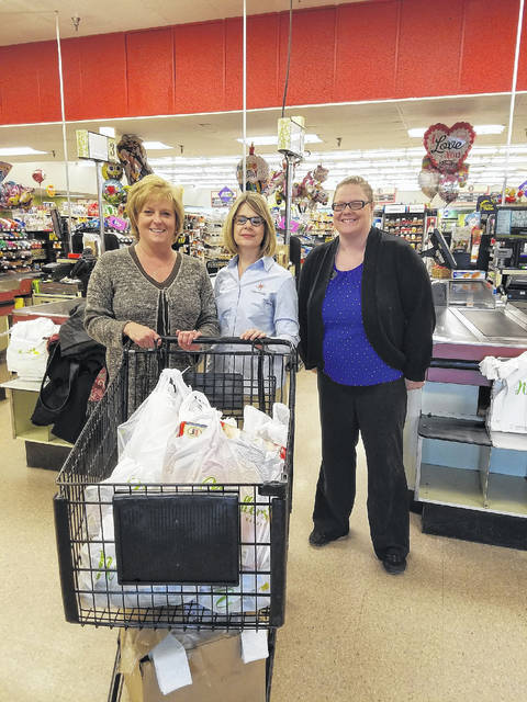 Denise Robertson came into Needler's Fresh Market on Thursday, Dec. 28 for her 90-second shopping spree. Robertson donated all her spree winnings to Preble County Food Bank. Cheering her on was Jenny McCarty from the food bank. She finished her spree with $438.61 The Food Bank was very appreciative for the donation.