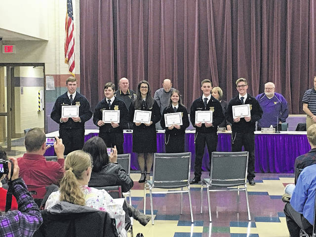 The team was also recognized for their achievements during the December Eaton Board of Education meeting.