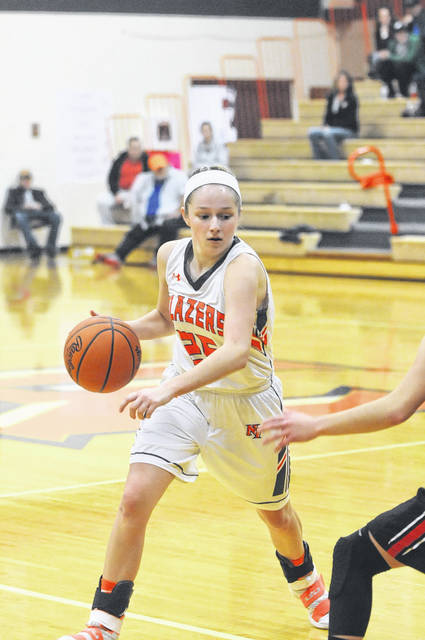 National Trail's Savanna Abner scored 11 points and had three assists in the Blazers 64-35 loss to Preble Shawnee on Tuesday, Jan. 23.