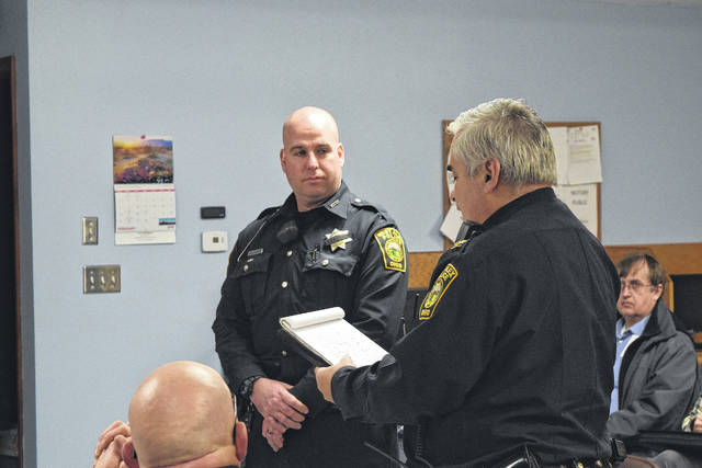 Police Chief Tony Gasper recognized Kaczmarek during the council meeting on Tuesday, Feb. 13.