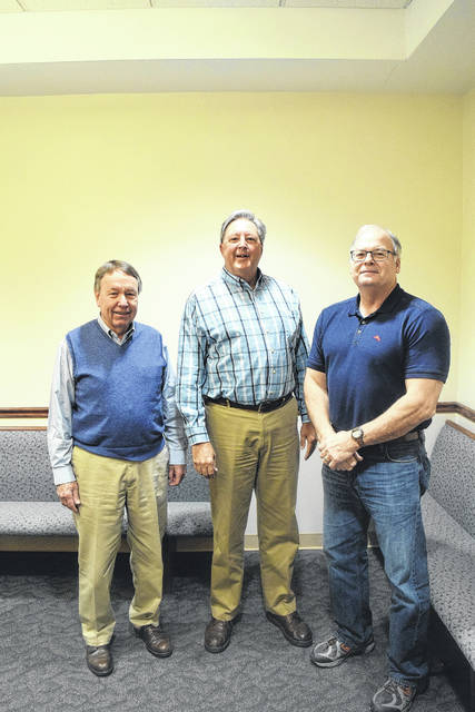 In January, Judge Overmyer of the Preble County Probate Court appointed Greg Arnett of New Paris to become the next Park District Commissioner. The Park District now consists of three commissioners, including (left to right): Chairman Tom McQuiston, J. Stephen Simmons, and Greg Arnett.