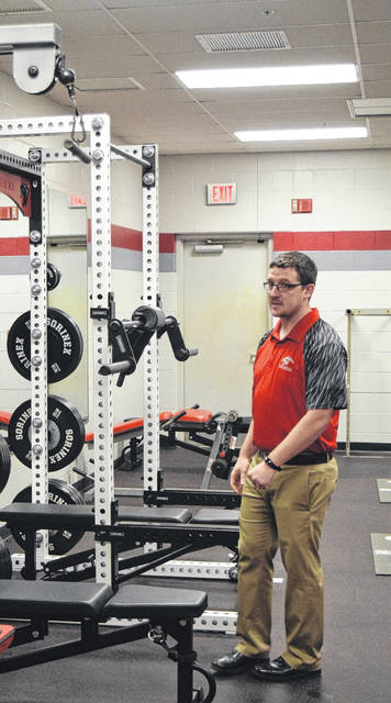 TVS has a newly renovated weight room, funded 100 percent through donations. Superintendent Bob Fischer and football voach Clint Bartlett gave an impromptu tour during the board of education meeting on Monday, Feb. 26.