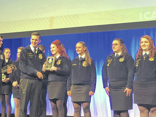 During State Convention, National Trail MVCTC FFA Chapter was rated Gold in the State of Ohio. Not only that, but they were also the state winners in the Strengthening Ag Division — an honor chapter members were not expecting.