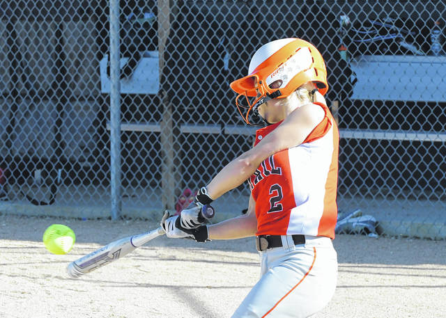 National Trail's Kayleigh Minner helped the Blazers to a 10-0 win over Twin Valley South on Tuesday, May 1. The Blazers went 2-1 last week to improve to 10-5 on the season.