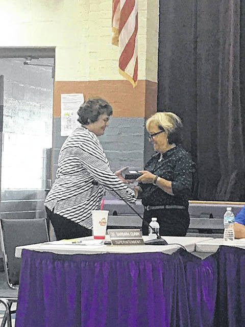 Barbara Curry served her last Board of Education meeting as Eaton Community Schools Superintendent on Monday, June 11. She was congratulated on her retirement and thanked for her service.