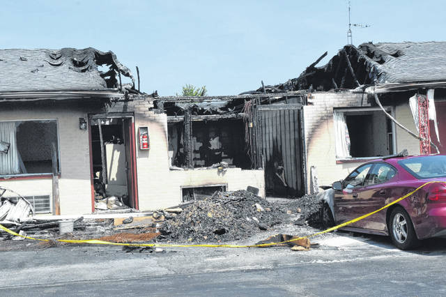On Monday, July 9, seven Preble County fire departments responded to reports of a fire at New Budget Inn, located at 6161 U.S. 127 in Eaton. No one was injured in the fire, but substantial damage was done to the motel.