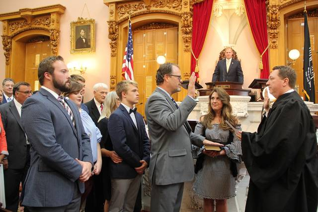 J. Todd Smith was sworn in as state representative of the 43rd Ohio House District during a Tuesday, July 24, House session, filling the vacant seat left when Jeff Rezabek was appointed Montgomery County Juvenile Judge.