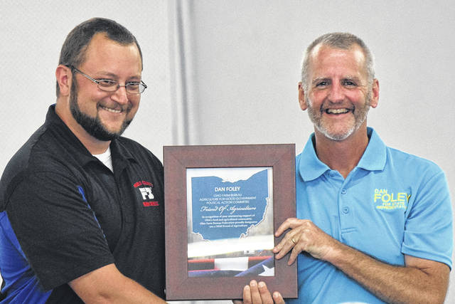 Dan Foley was presented with a Friend of Agriculture Award.