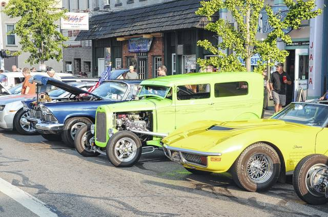 "Over 400 cars turned out for the 2017 Old Fashioned Downtown Saturday Night event in Eaton. Sponsored by Downtown Eaton Inc., Eaton Police Association and Eaton Fire and EMS Association, the event helps close out the last weekend in August with a wide variety of vintage and ""souped up"" vehicles and motorcycles, good food, live music and family fun, as well door prizes and more for those who entered the car show."