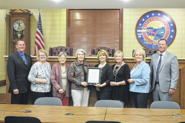 "The Preble County Board of Commissioners declared Sept. 17-23 ""Constitution Week"" in Preble County during a meeting on Monday, Sept. 17. Commissioners presented a copy of the resolution to the Commodore Preble Chapter, Daughters of the American Revolution. Constitution Week is the commemoration of America's most important document. It is celebrated annually. This celebration of the Constitution was started by the Daughters of the American Revolution. In 1955, DAR petitioned Congress to set aside Sept. 17-23 annually to be dedicated for the observance of Constitution Week. The resolution was later adopted by the U.S. Congress and signed into public law on Aug. 2, 1956, by President Dwight D. Eisenhower. According to DAR, the purposes of Constitution Week are to emphasize citizens' responsibilities for protecting and defending the Constitution, to inform people the Constitution is the basis for America's heritage and the foundation for its way of life, and to encourage the study of the historical events which led to the framing of the Constitution in September 1787."
