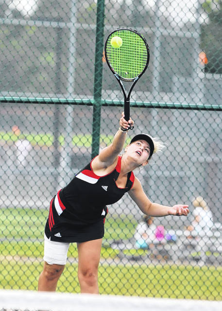 Alivia Reek has played a key role in the success of Preble Shawnee's girls tennis team this fall. Shawnee is 5-1 in league play heading into the SWBL tournament this week.