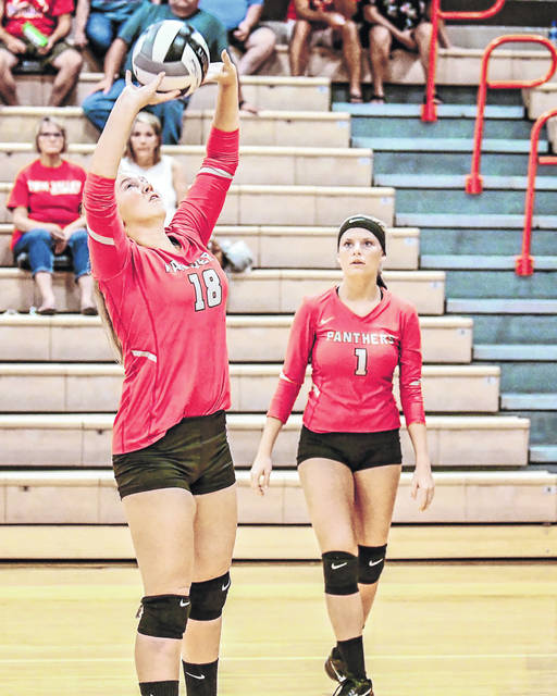 Twin Valley South's volleyball team played three county teams last week, falling to Eaton, before beating National Trail and Tri-County North.
