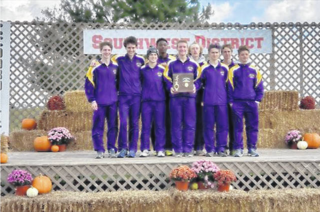 Eaton's boys cross country team claimed its second straight district championship on Saturday, Oct. 20, at Cedarville University.
