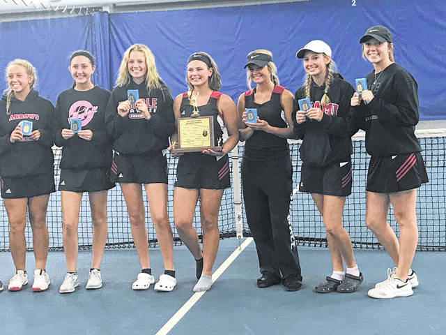 Preble Shawnee's girls tennis team claimed its third straight SWBL title last week.