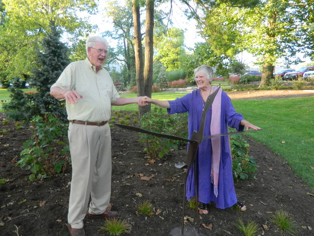 The Oxford Community Arts Center (OCAC) recently announced the installation of two bronze heron sculptures designed and created by the Magaws of Boston in honor of longtime Oxford residents and philanthropists, Jack and Sally Southard.