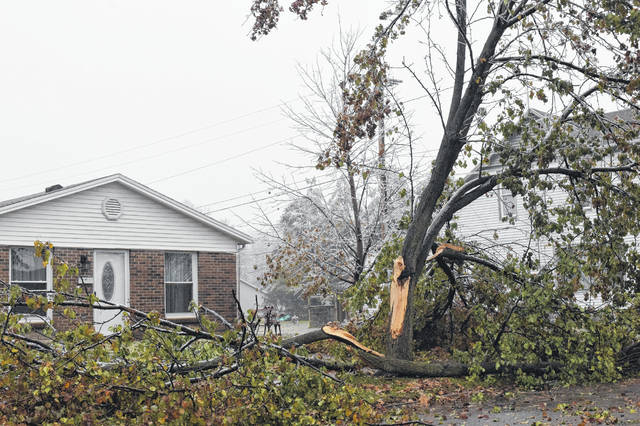 Students were out of school, and some families were without power as the first winter storm of the season dropped an icy mess on the Miami Valley. Crews were out working on power lines and cleaning up downed trees and branches.