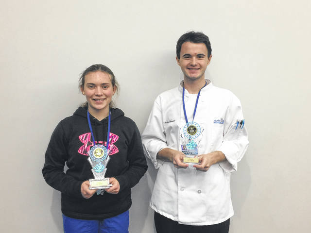 MVCTC December Health and Consumer Science Students of the month are Briana Baker (Dental Assisting student from Eaton High School) and Austin Miracle (Culinary Arts student from Tri-County North High School). Both students are recognized for academic achievement, attitude, leadership skills, and attendance.