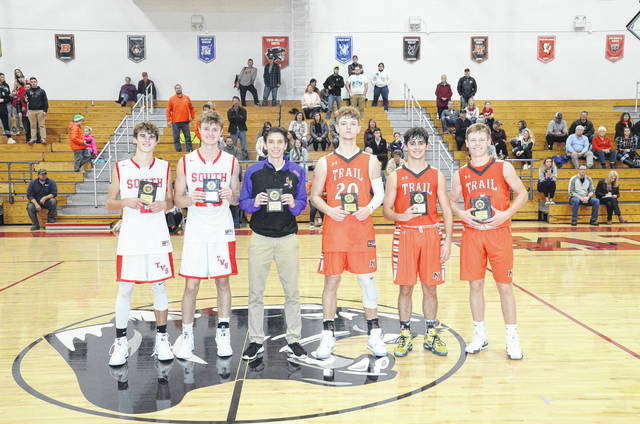 The all-tournament team included Jayden Bassler and Cole Peterson of Twin Valley South, Dylan Jackson of Eaton, Zach Woodall, Adam Eyler and Cameron Harrison of National Trail.