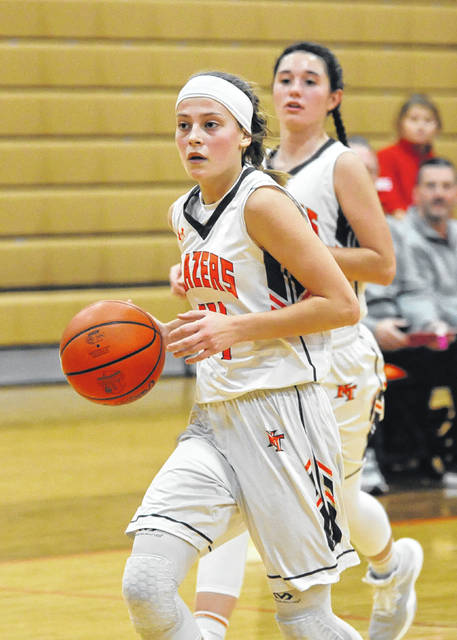 National Trail freshman Skylar Ward scored a team-high 19 points in her varsity debut to lead the Blazers to a 54-34 win over Dixie on Tuesday, Nov. 27.