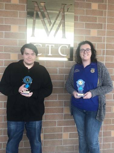 MVCTC EBITA Department Announces December Students of the Month – Dillon Hall (Northmont) and Carley Asher (Preble Shawnee).