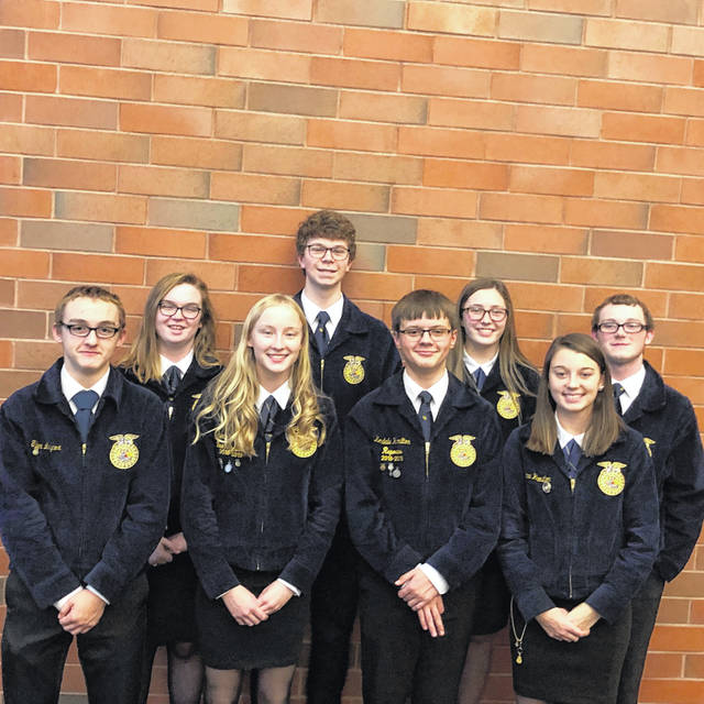 The Advanced contest consists of six members. Eaton's Advanced team consisted of Becky Wright, Mallory Deaton, Jacob McIntosh, Arica Hamilton, Tyler Laycox, and Kendale Hamilton; as well as alternates of Dawson Brubaker and Abby Wysong.
