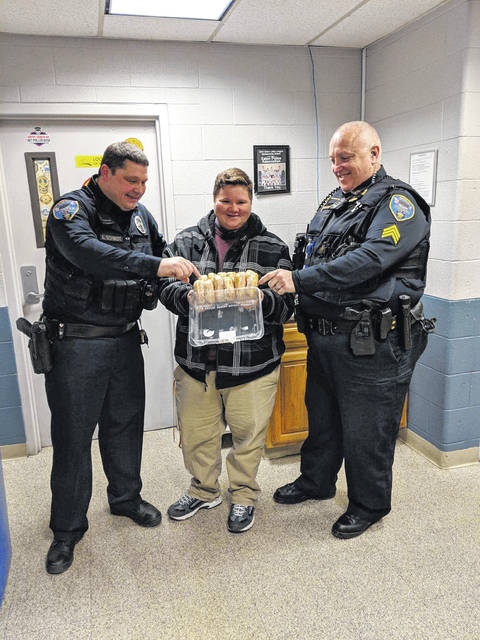 YWCA Dayton recognized Eaton Police Division for their support of the organization by delivering doughnuts on Wednesday, Jan. 9.