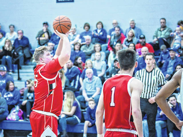 Preston Jackson scored 15 points for Tri-County North against Brookville on Saturday, Jan. 5, but the Panthers came up short, falling to the Blue Devils, 75-45.