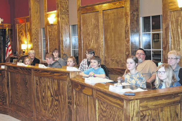 Camden Village Council hosted a Kid's Council on Thursday, Feb. 21. Students from West Elkton Intermediate School had the opportunity to serve as council and assist council members in making decisions.