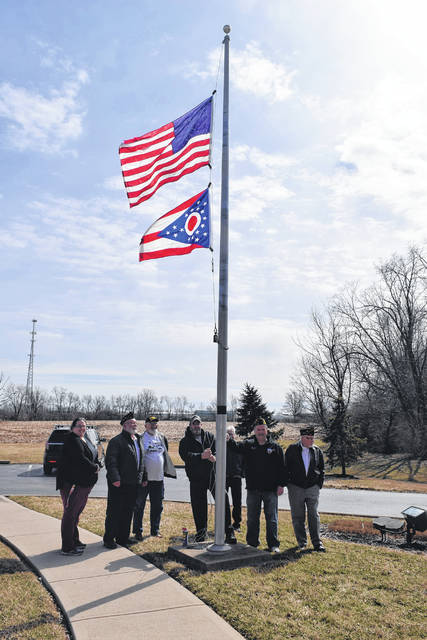 Preble County Council on Aging (PCCOA) was presented with an Ohio state flag by American Legion Post 215 on Monday, March 11.