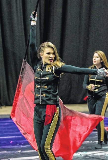 "Eaton Eagles Winterguard members will compete at Championships on Saturday, March 30. They will be presenting their 2019 show entitled ""Who's Bad?"""