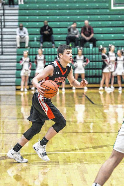 Preble Shawnee senior Calvin Leeth helped the Arrows to a pair of upsets in the the Division III sectional. Shawnee reached the district semifinals before falling to No. 1 seed Anna, 75-32 on Saturday, March 2 at Northmont High School.