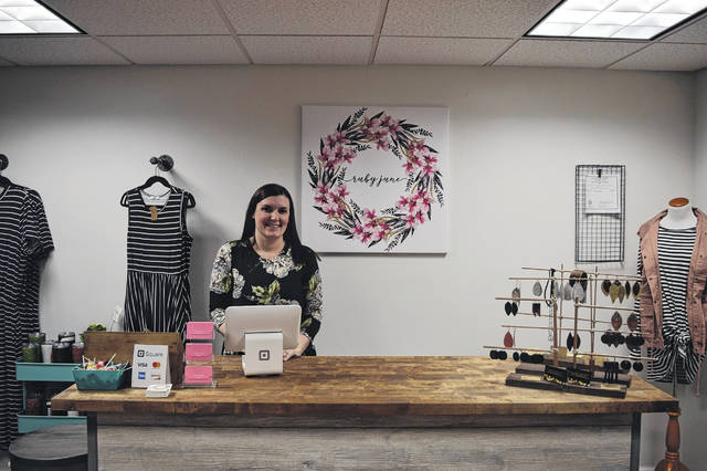 Ruby June Boutique is a new women's clothing store that has open in Eaton, located at 200 Eaton-Lewsiburg Road. Owned by Molly Adams, the boutique sells size inclusive clothing from infant to 4X. The store held its grand opening on Saturday, Feb. 23.
