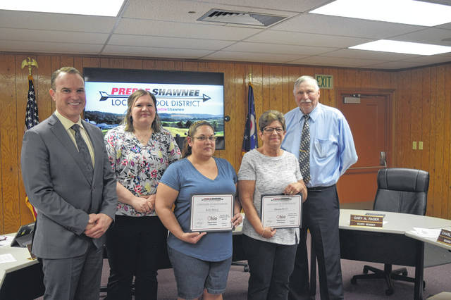 The Preble Shawnee Food Service Department was recognized for a perfect school lunch audit during the Preble Shawnee Board of Education meeting on April 11.